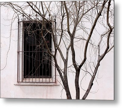 Mission Church Window Metal Print by Joe Kozlowski