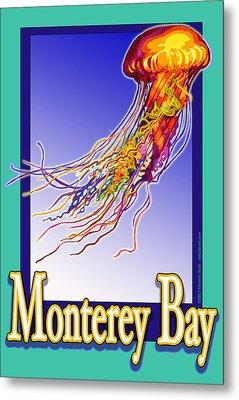 Monterey Bay Jellyfish Metal Print by Michelle Scott