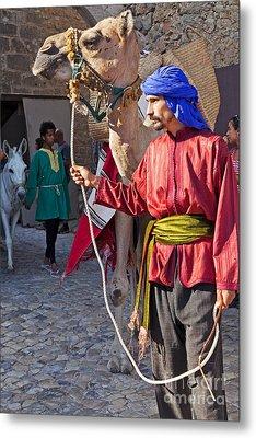 Moorish Man With Dromedary  Metal Print by Jose Elias - Sofia Pereira