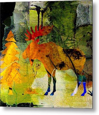 Moose Metal Print by Marvin Blaine