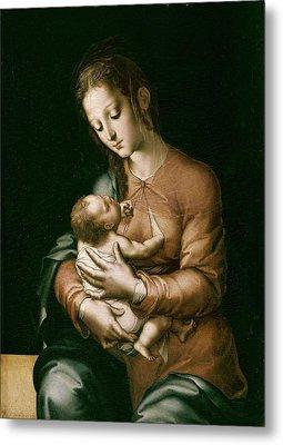 Morales, Lu�s De 1515-1586. The Virgin Metal Print by Everett