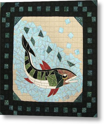 Mosaic Fish Metal Print by Lynda K Boardman