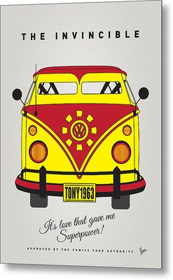 My Superhero-vw-t1-iron Man Metal Print by Chungkong Art