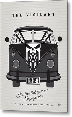 My Superhero-vw-t1-punisher Metal Print by Chungkong Art