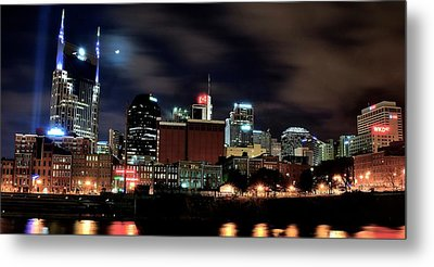 Nashville Panoramic View Metal Print by Frozen in Time Fine Art Photography