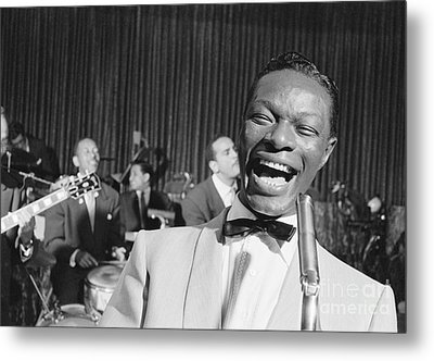 Nat King Cole 1954 Metal Print by The Phillip Harrington Collection