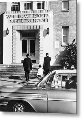 New Orleans School Integration Metal Print by Underwood Archives