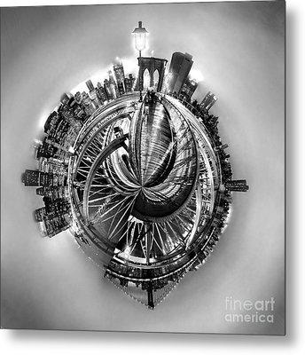 Manhattan World Metal Print by Az Jackson