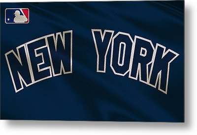 New York Yankees Uniform Metal Print by Joe Hamilton