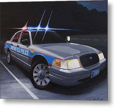 Night Patrol Metal Print by Robert VanNieuwenhuyze