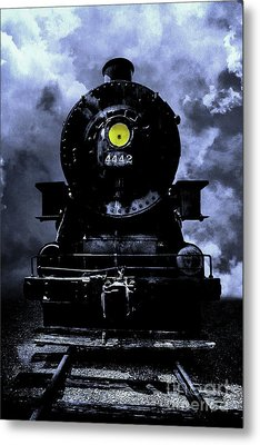 Night Train Essex Valley Railroad Metal Print by Edward Fielding