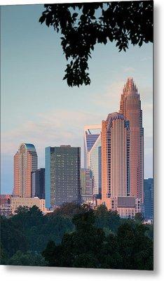 North Carolina, Charlotte, Elevated Metal Print by Walter Bibikow