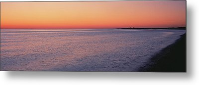 Ocean At Sunset, Provincetown, Cape Metal Print by Panoramic Images