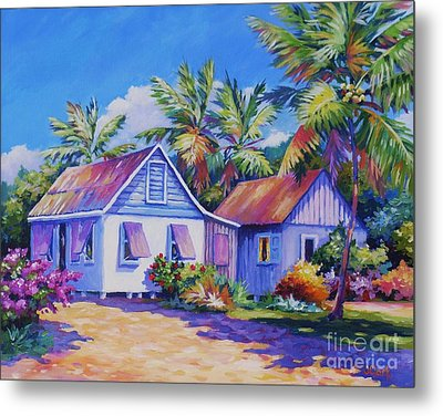 Old Cayman Cottages Metal Print by John Clark