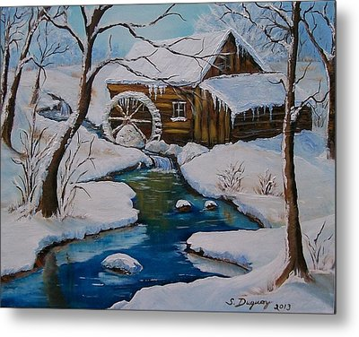 Old Grist Mill  Metal Print by Sharon Duguay