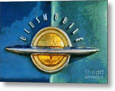 1951 Oldsmobile 98 Deluxe Holiday Sedan Metal Print by George Atsametakis