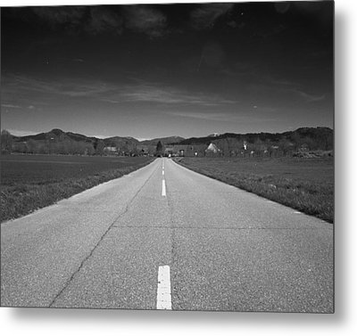 On The Road Metal Print by Marcio Faustino