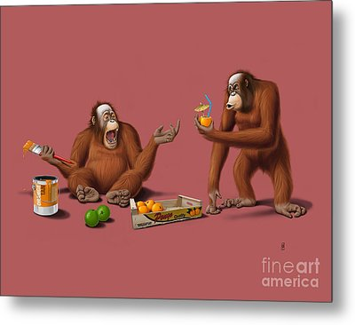 Orange Man Metal Print by Rob Snow