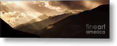 Panoramic View Of Dolomite Alps Metal Print by Evgeny Kuklev