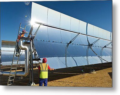 Parabolic Trough Solar Power Plant Metal Print by Philippe Psaila