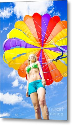 Parasailing On Summer Vacation Metal Print by Jorgo Photography - Wall Art Gallery