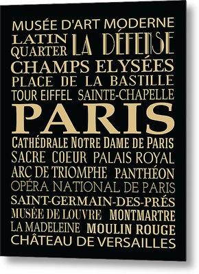 Paris Attractions Metal Print by Jaime Friedman