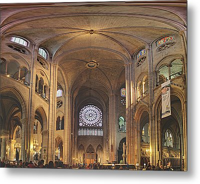 Paris France - Notre Dame De Paris - 01138 Metal Print by DC Photographer