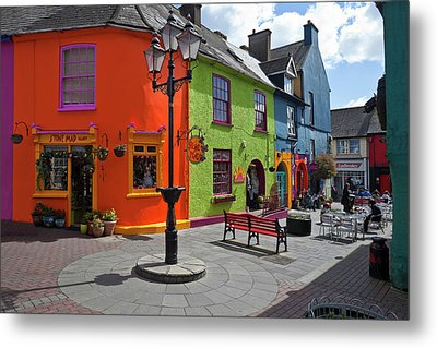 Pedestrianised Street Off Market Metal Print by Panoramic Images