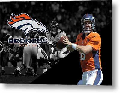 Peyton Manning Broncos Metal Print by Joe Hamilton