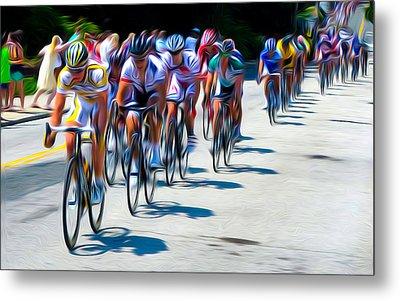Philadelphia Bike Race Metal Print by Bill Cannon