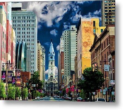 Philadelphia Blue Skies Metal Print by Bill Cannon