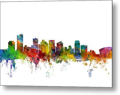 Phoenix Arizona Skyline Metal Print by Michael Tompsett