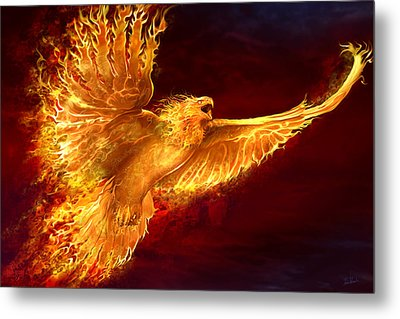 Phoenix Rising Metal Print by Tom Wood