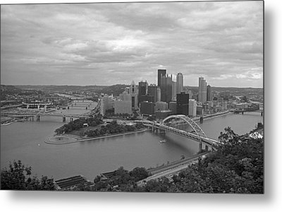Pittsburgh - View Of The Three Rivers Metal Print by Frank Romeo
