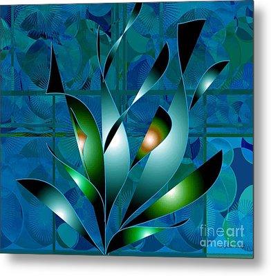 Planted Beauty Metal Print by Iris Gelbart