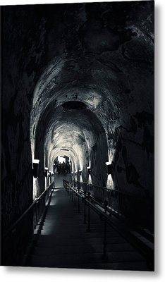 Pommery Champagne Winery Passageway Metal Print by Panoramic Images