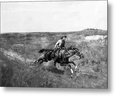 Pony Express Rider Metal Print by Underwood Archives