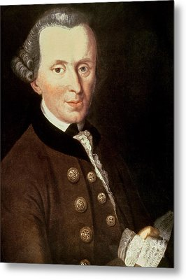 Portrait Of Emmanuel Kant Metal Print by German School