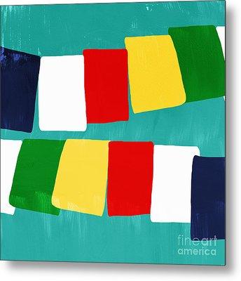 Prayer Flags Metal Print by Linda Woods