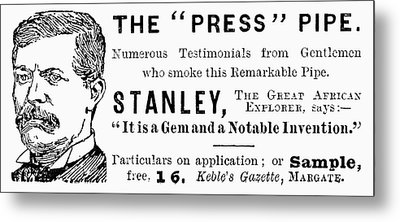 'press' Pipe, 1893 Metal Print by Granger