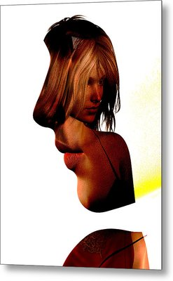Profile Of A Woman Metal Print by David Ridley