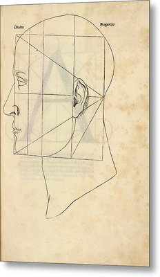 Proportions Of The Human Face Metal Print by Library Of Congress