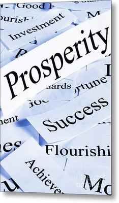 Prosperity Concept Metal Print by Colin and Linda McKie