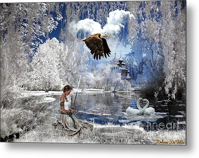 Pure Hearted Warrior Metal Print by Dolores Develde