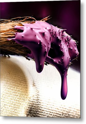 Purple Drip Metal Print by Camille Lopez