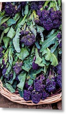Purple Sprouting Broccoli Metal Print by Aberration Films Ltd