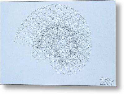 Quantum Nautilus Metal Print by Jason Padgett