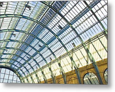 Railway Station Roof Metal Print by Tom Gowanlock
