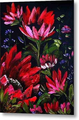 Red Flowers Metal Print by Shirwan Ahmed