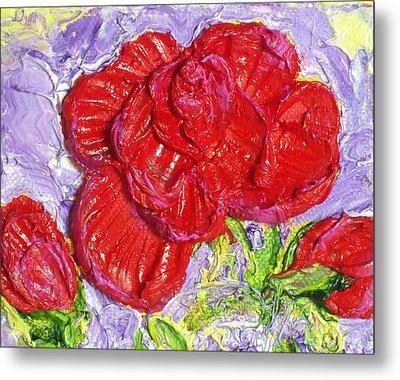 Red Rose Metal Print by Paris Wyatt Llanso